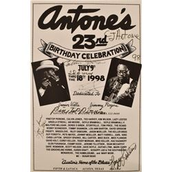 Antone's 23rd Birthday Autographed Poster