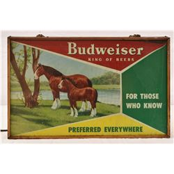 Budweiser Clydesdale Beer Sign