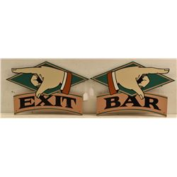 Threadgill's Bar & Exit Painted Signs