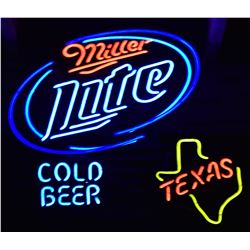 Lite Cold Beer Texas Neon Sign