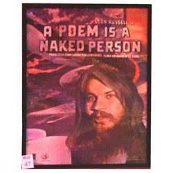 Leon Russell A Poem Is A  Naked Person Film Poster