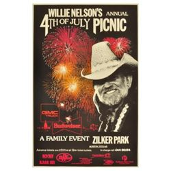 Willie Nelson's 4th Of July Picnic Poster 1990