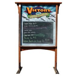 Victory With Vegetables Hand Painted Sign