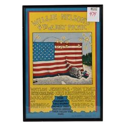 Willie Nelson First 4th of July Picnic Poster