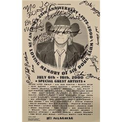 Antone's 25th Anniversary Poster  Autographed
