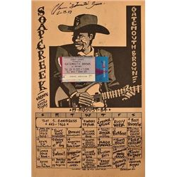 Signed Gatemouth Brown Soap Creek Saloon Poster