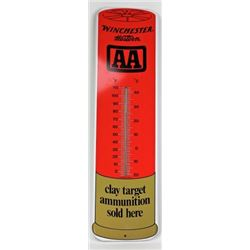 NOS Winchester Western metal thermometer