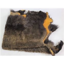 Large tanned buffalo robe