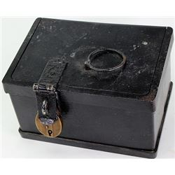 Antique iron strong box