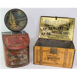 Collection of 3 tin includes