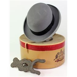 Collection of 2 includes Stetson felt bowler hat