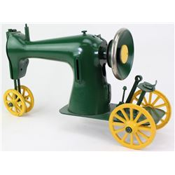 Folk art tractor made from Singer sewing machine