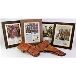 Collection of 6 includes 4 Bianchi leather holster