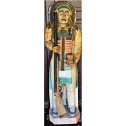 Contemporary carved cigar store Indian