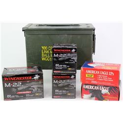 2800 rounds of 22 ammo with ammo can.