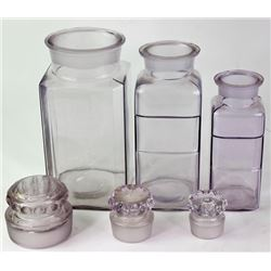 Collection of 3 antique jars includes large
