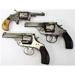 Collection of 3 antique revolvers