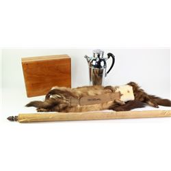 Collection of 4 includes vintage mink stoll