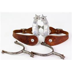 Collection of 2 pair spurs includes