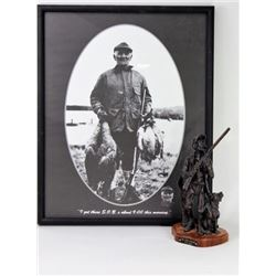 """Collection of 2 includes bronze """"The Duck Hunters"""""""