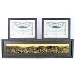Collection of 3 includes framed and colorized