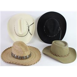 Collection of 4 cowboy & cowgirl hats includes