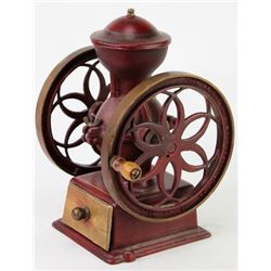 Small counter top antique coffee mill