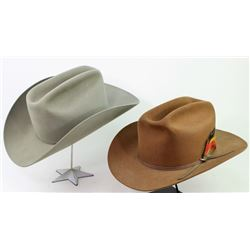 Collection of 2 cowboy hats includes