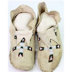 C. 1900-1920's Norther Plains beaded moccasins