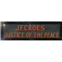 Early frontier period painted glass sign