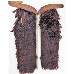 Woolie chaps brown angora stamped Clark