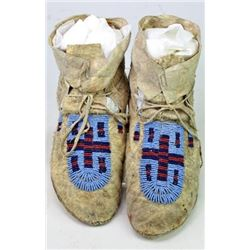 1890-1910 Northern Plains beaded moccasins