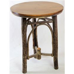 Old Hickory side table with oak top