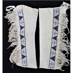 Contemporary Sioux fringed leggings