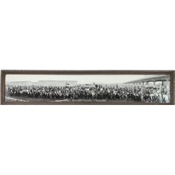 "Original B&W panoramic ""Co. W.T. Johnsons"