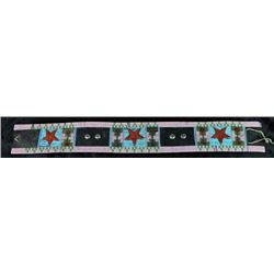 Large early beaded Crow belt