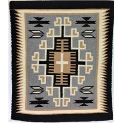 Finely woven Navajo Two Grey Hills rug