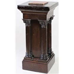 Ornate antique wood pedestal