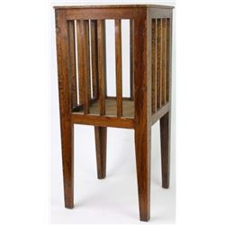 Arts and Crafts Mission oak plant stand,