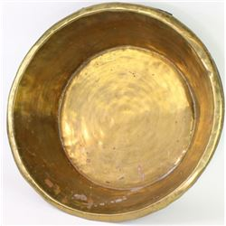 Large early brass trade tub