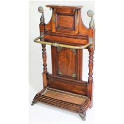 Victorian walnut entry way umbrella stand