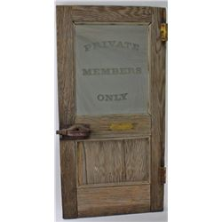 Interesting antique small door with hardware