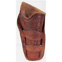 Miles City Saddlery stamped double loop holster