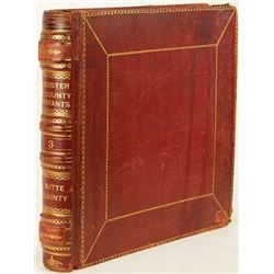 Large red leather bound Butte county
