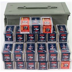 1600 rounds 17HMR ammo with can.