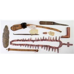 Collection of 8 items includes early Cree