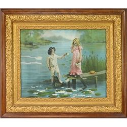 "C. 1900-1910 framed print ""Peace Offering"""