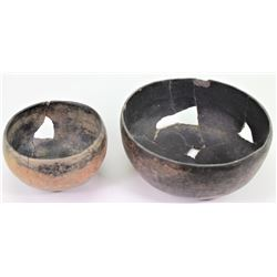 Collection of 2 site repaired Anasazi bowls