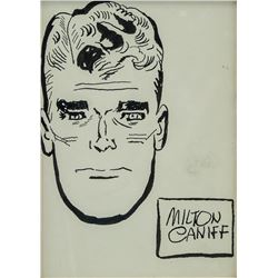 US Pop Art Ink on Paper Signed Milton Caniff