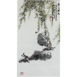 Wu Yisheng Chinese 1929-2009 Watercolor Scroll